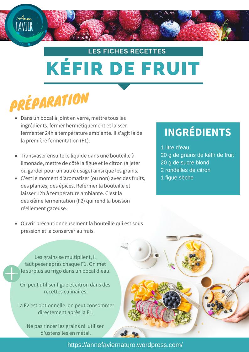 Les fiches recettes : kéfir de fruit